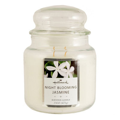 Hallmark Night Blooming Jasmine 15-oz. Jar Candle, White