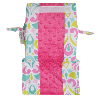 Itzy Ritzy Ritzy Wrap Infant Car Seat Handle Arm Cushion in Brocade Splash