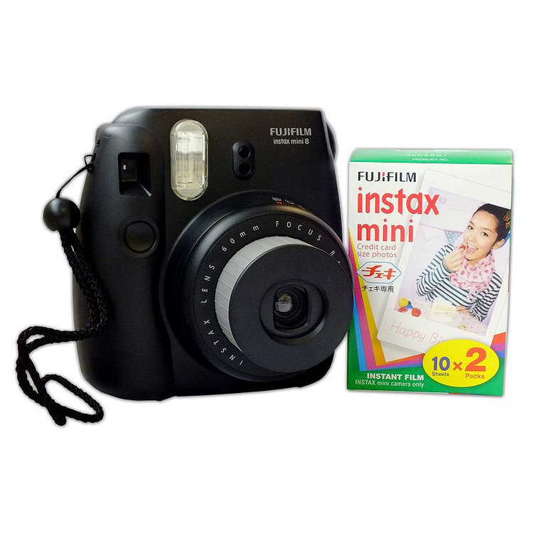 Fujifilm Instax Mini Instant Film Camera with 2-pack of Photo Film Paper