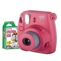 Fujifilm Instax Mini 8 Instant Camera Bundle, Raspberry