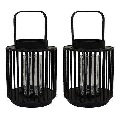 Decor Therapy AC1511 Set of 2 Candle Holder in Black
