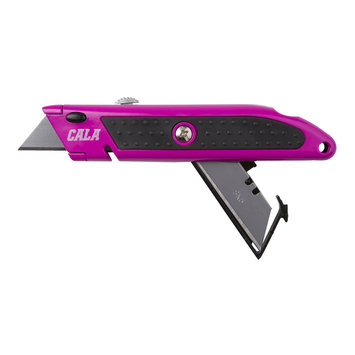 David Shaw Silverware Na Ltd Cala Pink Utility Knife With Replacement Blades - David Shaw Silverware NA LTD