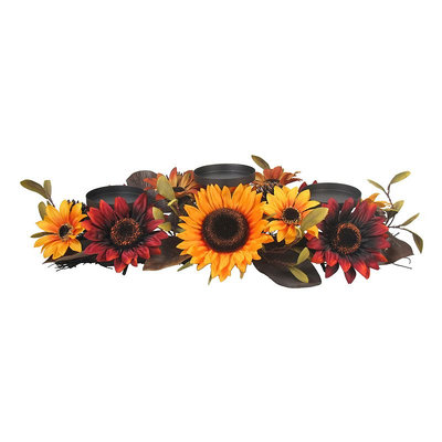SONOMA Goods for Life™ Faux Sunflower 3-Pillar Candle Holder, Multi/None