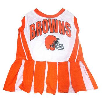 Doggienation Cleveland Browns Cheerleader Dog Dress X-Small