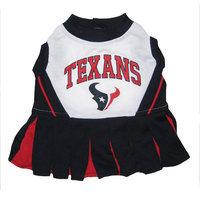 Pets First Inc. Pets First 8-49790-00131-2 Houston Texans Cheerleader Dog Dress Xtra Small
