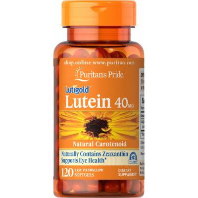 Puritan's Pride Lutein 40 mg with Zeaxanthin-120 Softgels