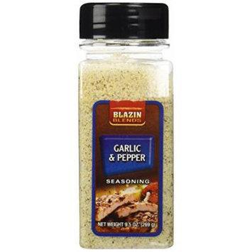 Garlic & Pepper Seasoning - 9.5 oz,(Blazin Blends)