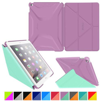 iPad Air 2 Case - roocase Origami 3D iPad Air 2 2014 Slim Shell Case Smart Cover with Sleep / Wake for Apple iPad Air 2 (2014) 6th Generation Latest Model, Radiant Orchid / Mint Candy