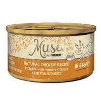 Muse by Purina Natural Chicken Recipe Accented With Tomato & Carrot In Gravy Cat Food, 3 oz.