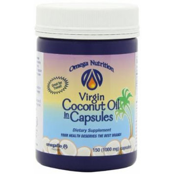 Omega Nutrition Virgin Coconut Oil In Capsules, 150-count