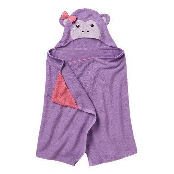 Jumping Beans® Monkey Bath Wrap, Purple