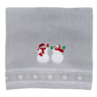 St. Nicholas Square® Snowman Bath Towel, Grey