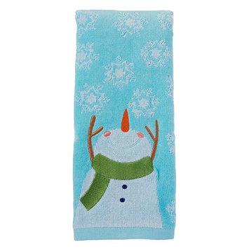 St. Nicholas Square Snowman Hand Towel, Blue