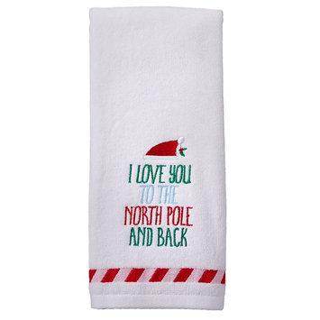St. Nicholas Square North Pole Hand Towel, Blue