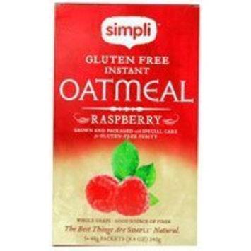 Simpli Gluten Free Instant Oatmeal Raspberry -- 8.4 oz