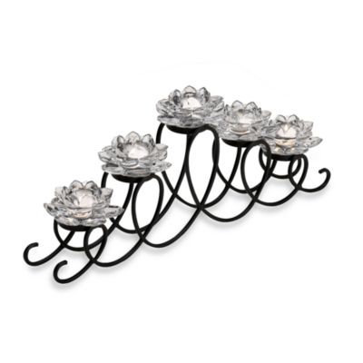 Mikasa 5 Clear Lotus Flower Loop Tealight Runner