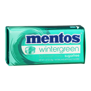 mentos Breath Mints Sugarfree Wintergreen