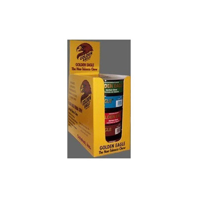 Golden Eagle Herbal Chew Non-Tobacco Chews Licorice Mint (Blue Label) 1.2 oz. plastic canisters (Pack of 5)