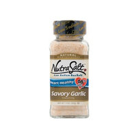 NutraSalt Savory Garlic, 5-Ounce Containers (Pack of 6)