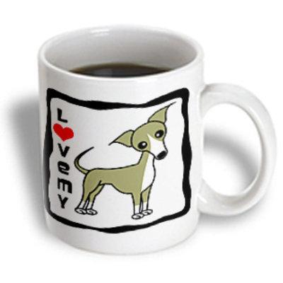 Recaro North 3dRose - Janna Salak Designs Dogs - I Love My Italian Greyhound Fawn Tan - 11 oz mug