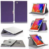 GearIt Samsung Galaxy Tab Pro 8.4 Case - 360 SPINNER landscape, portrait, typing stand folio cover - Twill Purple