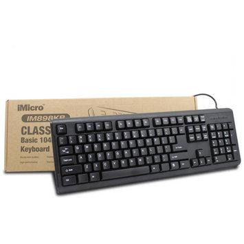 iMicro USB Basic 104-Key English Keyboard, Black