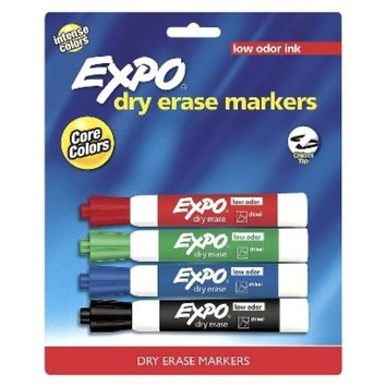 Sanford Expo 4ct Chisel Dry Erase Markers - Core Colors