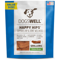Dogswell Happy Hips Grillers Chicken Dog Treats, 25oz