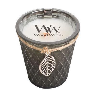 WoodWick Diamond Pane Flickering Fireside 8-oz. Jar Candle, Grey