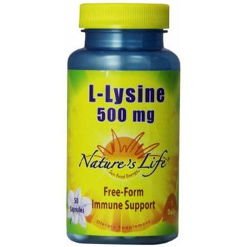 Nature's Life L-Lysine , 500 Mg, 50Capsules, (Pack of 2)