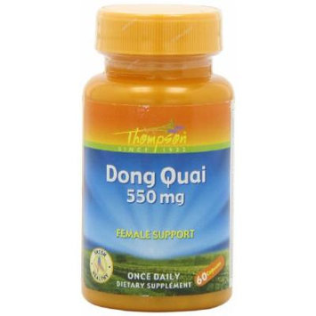 Thompson Dong Quai Capsules, 550 Mg, 60 Count (Pack of 3)