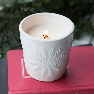 WoodWick Snowflake First Frost 10-oz. Jar Candle, White