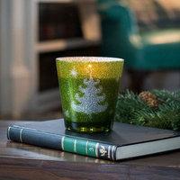 WoodWick Green Glitter Poplar & Pine 12-oz. Jar Candle