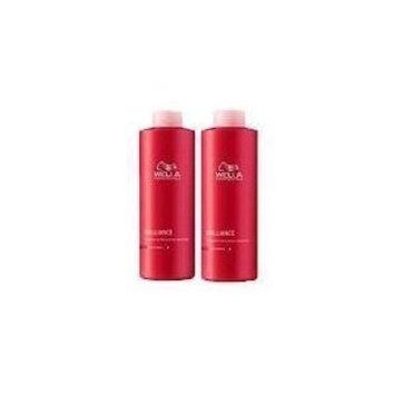 WELLA Brilliance Shampoo & Conditioner Fine to Normal Coloured Hair, Liter Duo 33.8 oz []