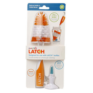 Munchkin LATCH Deluxe Bottle & Valve Brush