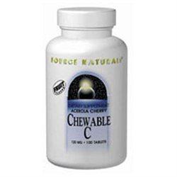 Source Naturals Acerola Chewable C 120mg, 250 Tablets
