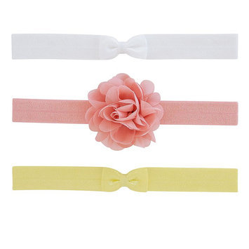 Carter's® Baby Girls' 3-Pack Plume & Bow Headwraps