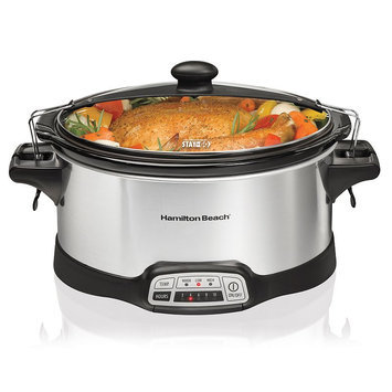 Hamilton Beach 6-qt. Stay or Go Slow Cooker, Silver