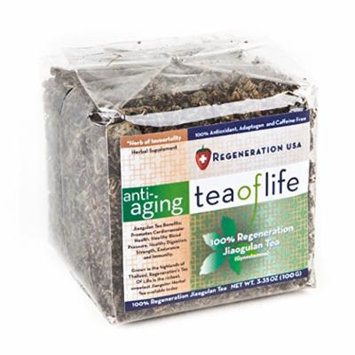 Regeneration USA Anti-Aging Tea of Life, (100 grams - 3.35-Ounce Package) 30 day supply (100% Jiaogulan Tea, Organic & Caffeine Free) The herb of Immortality