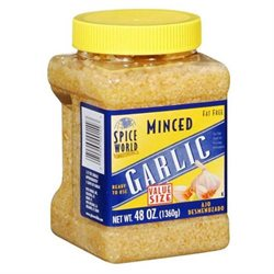 Spice World Minced Garlic - 48 oz.