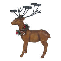 St. Nicholas Square® Christmas Standing Lodge Deer Tealight Candle Holder, Multicolor