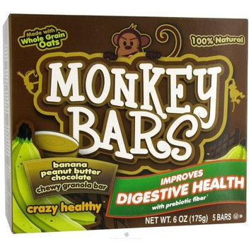 Monkey Brains - Prebiotic Granola Bar Banana Peanut Butter Chocolate - 6 oz.