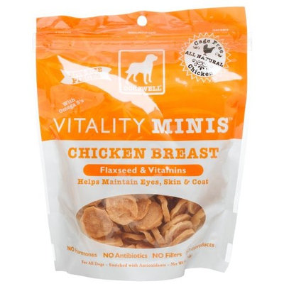 Dogswell Vitality for Dogs, Chicken Breast Minis, Flaxseed & Vitamins, 5-Ounce Pouches (Pack of 6)
