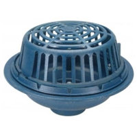 Zurn-wilkins Zurn Wilkins ZC100-6NH Roof Drain Cast Iron Dome, 3 Threaded Side Outlet, No Hub Outlet