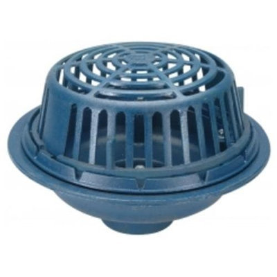 Zurn-wilkins Zurn Wilkins ZC100-4NL Roof Drain Cast Iron Dome, 4 Threaded Side Outlet, Neo-Loc Outlet