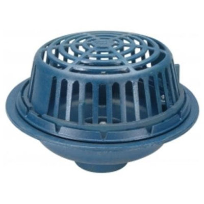 Zurn-wilkins Zurn Wilkins ZC100-6NL Roof Drain Cast Iron Dome, 6 Threaded Side Outlet, Neo-Loc Outlet