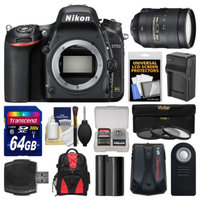 Nikon D750 Digital SLR Camera Body with 28-300mm VR Lens + 64GB Card + Case + Battery & Charger + 3 Filters Kit