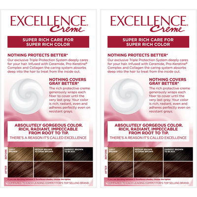 L'Oreal® Paris Excellence® Creme Triple Protection Color 2-1 Kit
