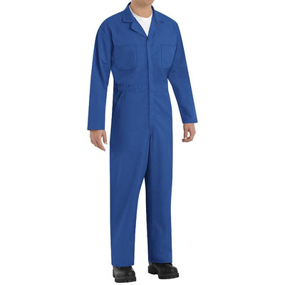 Red Kap 44 Men's Electric Blue Long Sleeve Coveralls CT10EB LN 44