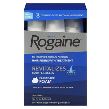 Men's Rogaine Extra Strength 5% Minoxidil Topical Aerosol Hair Regrowth Treatment Foam